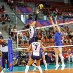 Mecz siatkówka kobiet Rosja-Dominikana.